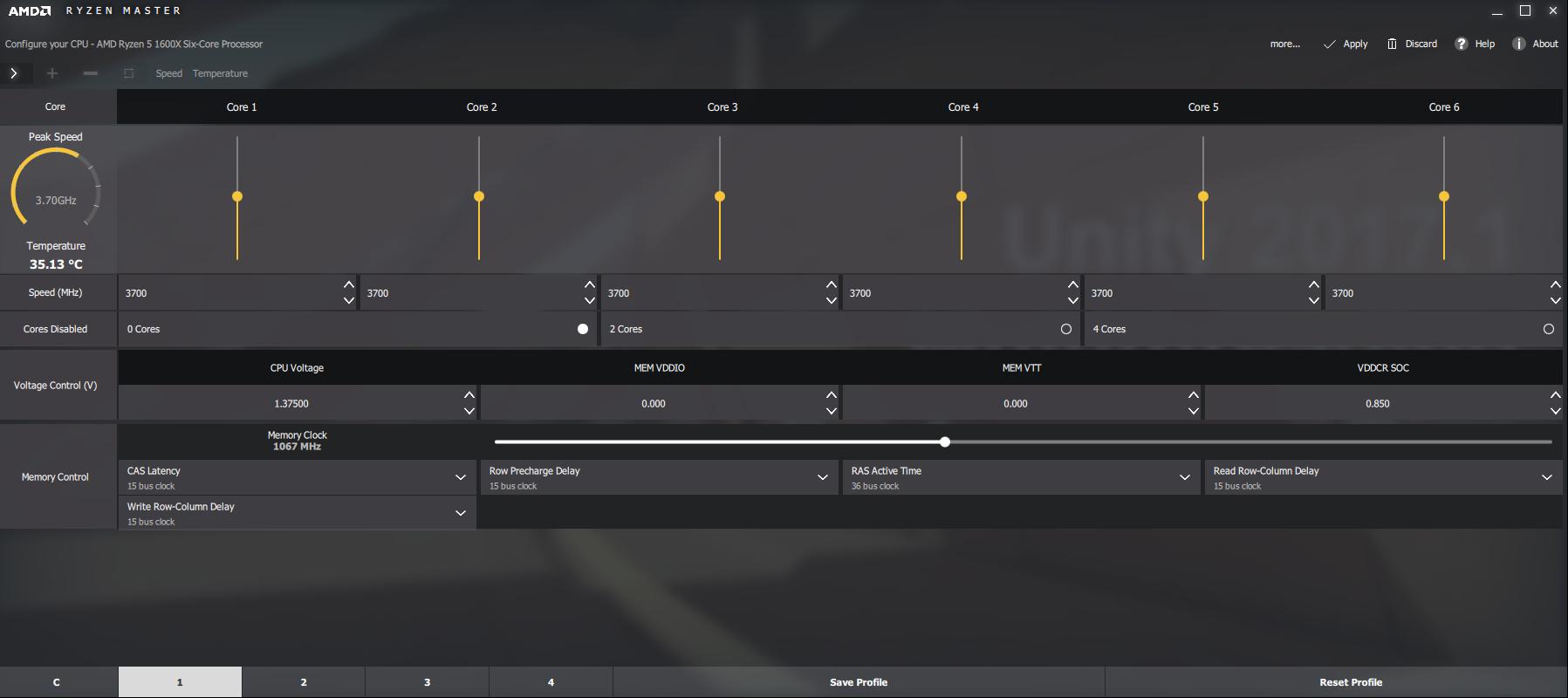 Ryzen Master Screenshot